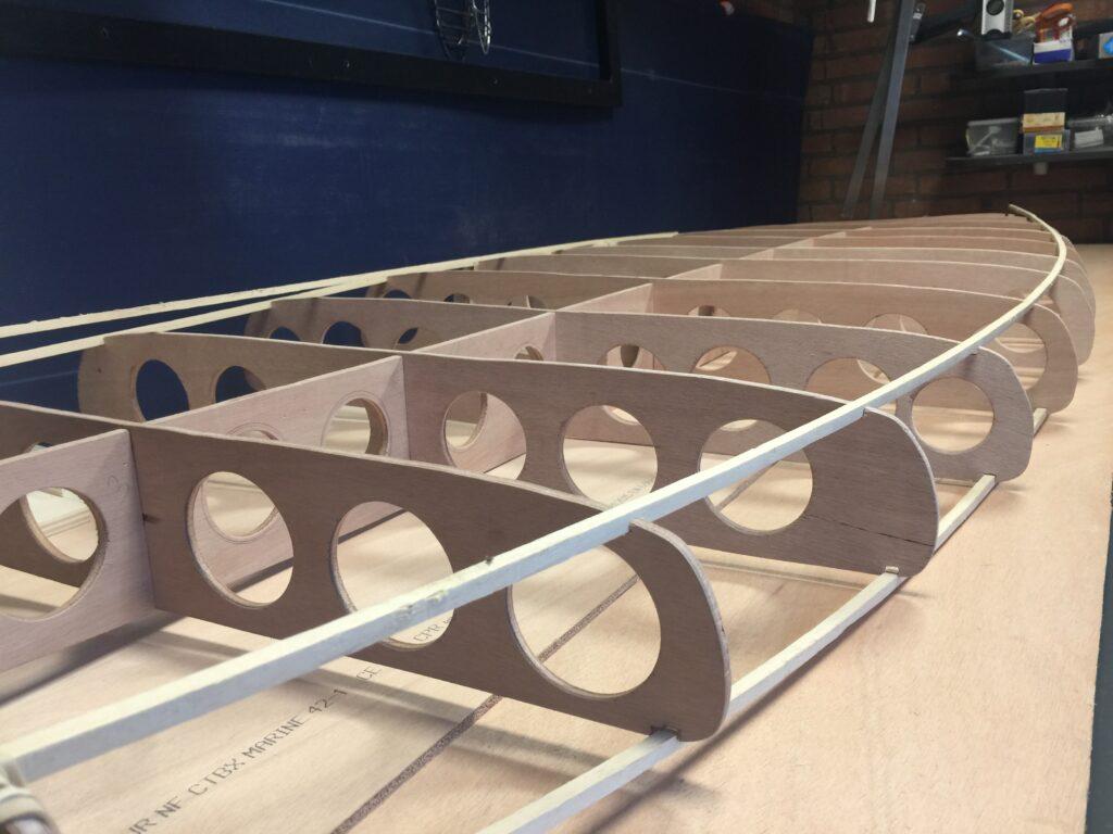 houten SUP board in productie 2